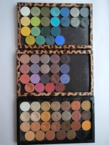 Eyeshadows in palettes